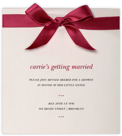 Moorish Silk - Paperless Post - Bridal shower invitations