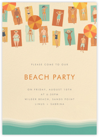 SPF 15 - Paperless Post - Summer Party Invitations