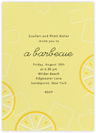Lemonade - Paperless Post - Summer entertaining invitations