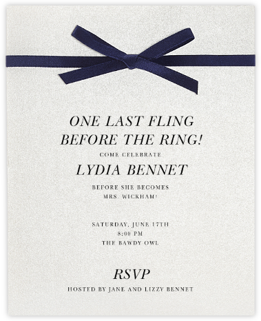 Halston - Paperless Post - Bachelorette party invitations