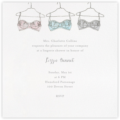 Lingerie Shower - Paperless Post - Bridal shower invitations