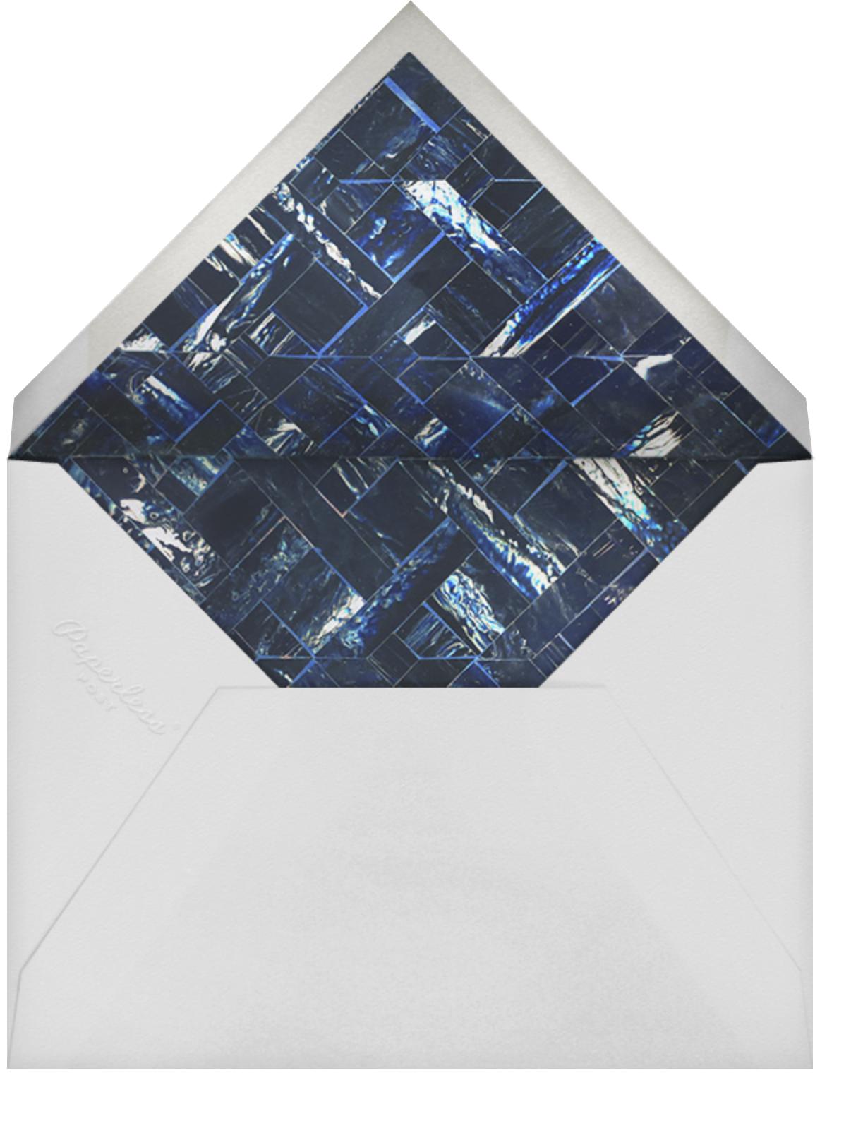 Marble - Indigo - Oscar de la Renta - Beach party - envelope back