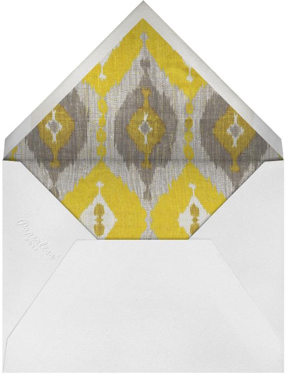 Silk - Saffron - Oscar de la Renta - Autumn entertaining - envelope back
