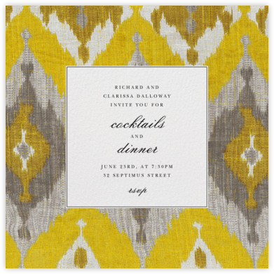 Silk - Saffron - Oscar de la Renta - Autumn entertaining invitations