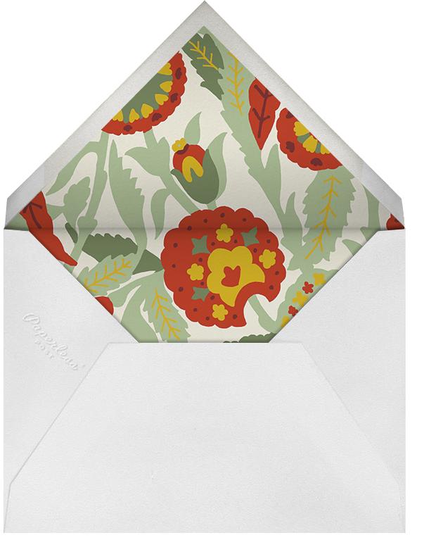 Spanish Garden - Red Plum - Oscar de la Renta - Autumn entertaining - envelope back