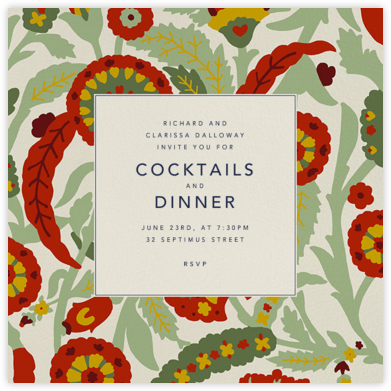 Dinner Party Invitations - Online And Paper - Paperless Post