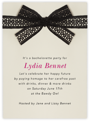 Merletto - Paperless Post - Bachelorette party invitations