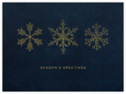 Snow - Midnight/Gold - Paperless Post - Online greeting cards