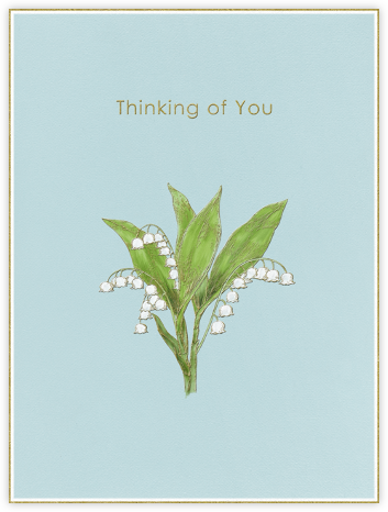 Lily of The Valley - Thinking of You (Light Blue) - Paperless Post -
