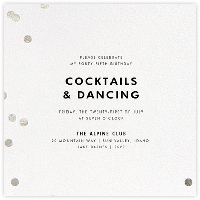 Holepunch - White - Paperless Post - Adult Birthday Invitations