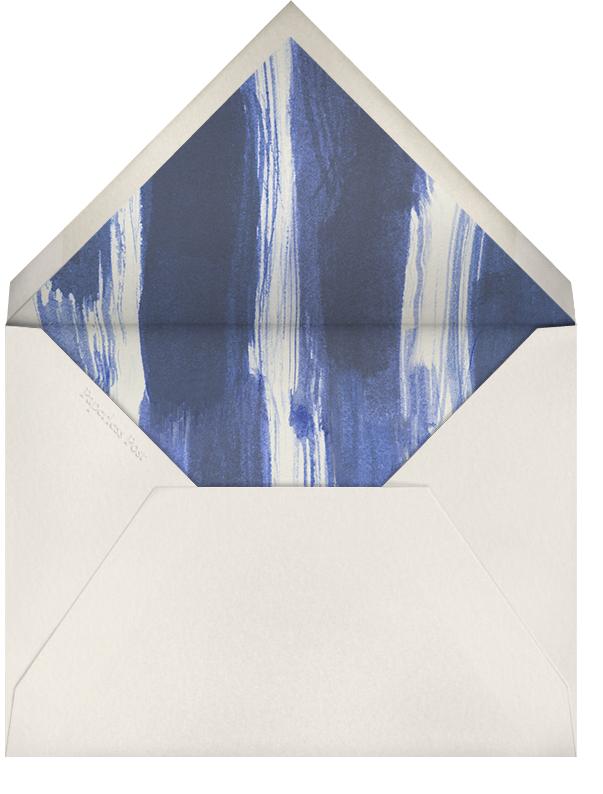 Dot and Dash Horizontal - Indigo - Oscar de la Renta - Personalized stationery - envelope back