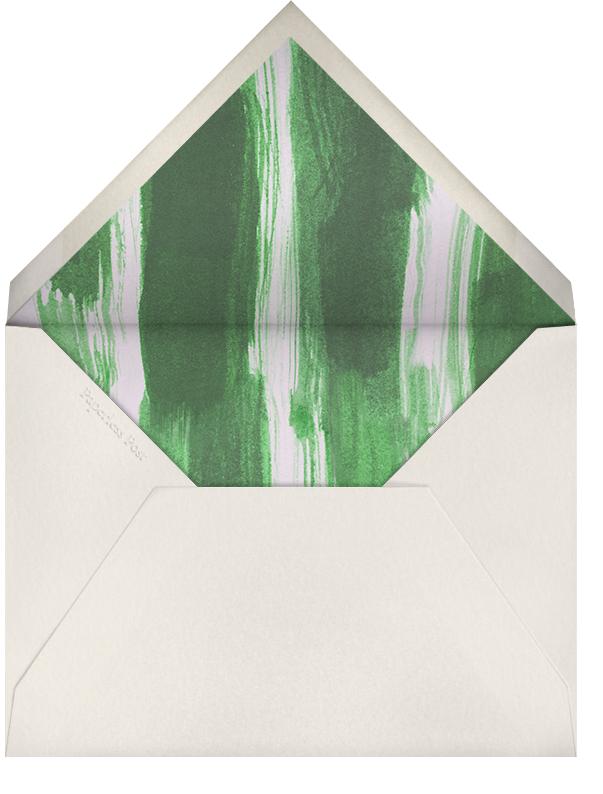 Dot and Dash Horizontal - Ivy - Oscar de la Renta - Personalized stationery - envelope back