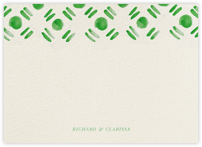 Dot and Dash Horizontal - Ivy - Oscar de la Renta - Personalized Stationery