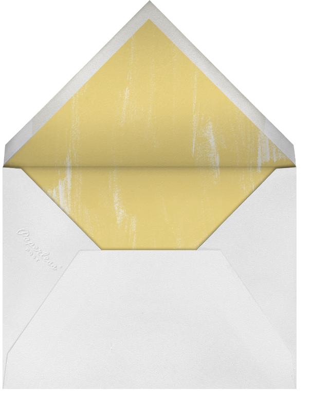 Watercolor Horizontal - Indigo - Oscar de la Renta - Personalized stationery - envelope back