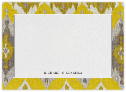Silk Horizontal - Saffron - Oscar de la Renta - Personalized Stationery