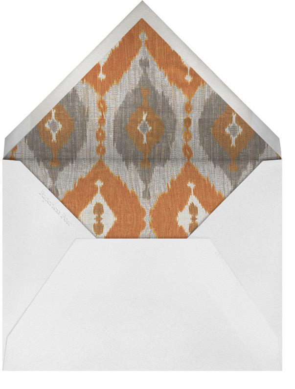 Silk Horizontal - Persimmon - Oscar de la Renta - Personalized stationery - envelope back