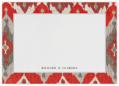Silk Horizontal - Tomato - Oscar de la Renta - Personalized Stationery