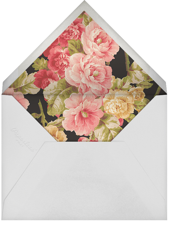 Garden Floral Ikat (Stationery) - Oscar de la Renta - Personalized stationery - envelope back