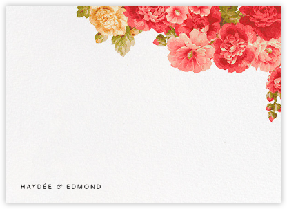 Garden Floral Ikat (Stationery) - Oscar de la Renta - Personalized Stationery