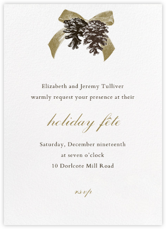 Winter Pine - Sepia - Paperless Post - Holiday invitations
