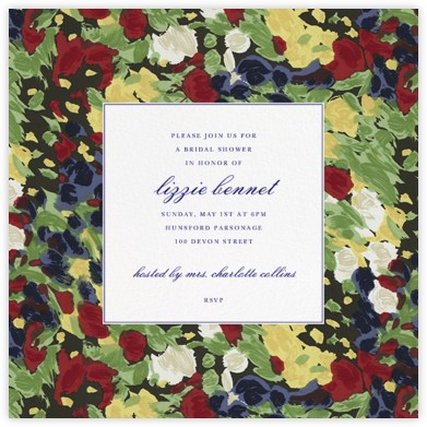 Isabela Floral - Oscar de la Renta - Bridal shower invitations