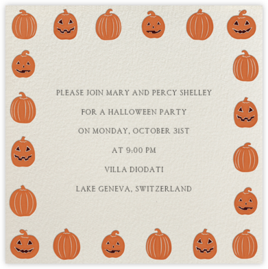 Jack-O-Lantern - Paperless Post - Halloween invitations