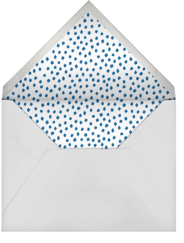Ikat Dot - Indigo/Ivory - Oscar de la Renta - Kids' Birthday Invitations - envelope back