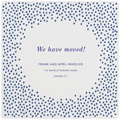 Ikat Dot - Ivory/Indigo - Oscar de la Renta - Moving announcements