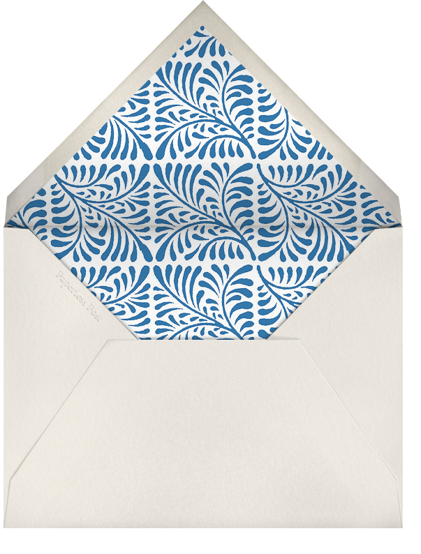 Woodblock - Indigo - Oscar de la Renta - Adult birthday - envelope back