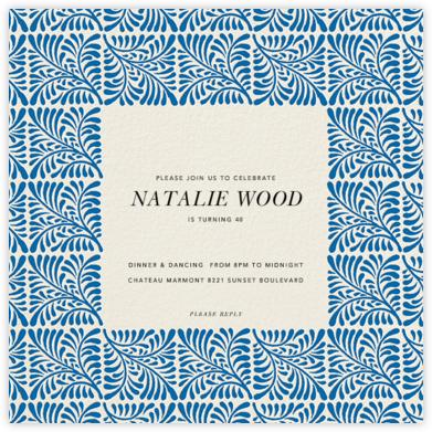 Woodblock - Indigo - Oscar de la Renta -