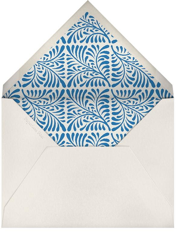 Woodblock - Indigo - Oscar de la Renta - Housewarming - envelope back