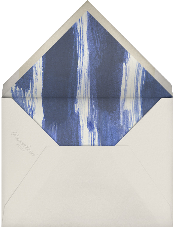 Watercolor - Indigo - Oscar de la Renta - Bar and bat mitzvah - envelope back