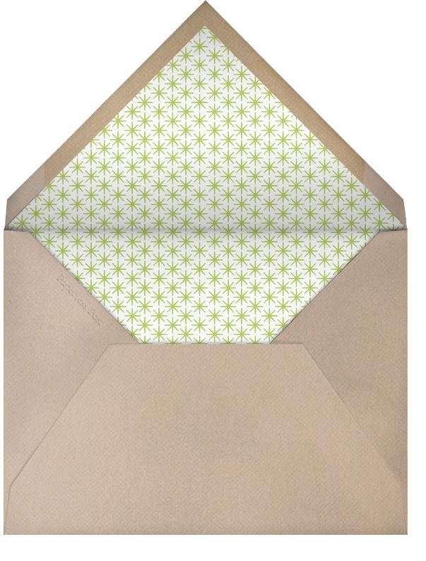 Modern Alligator - Petit Collage - Baby shower - envelope back