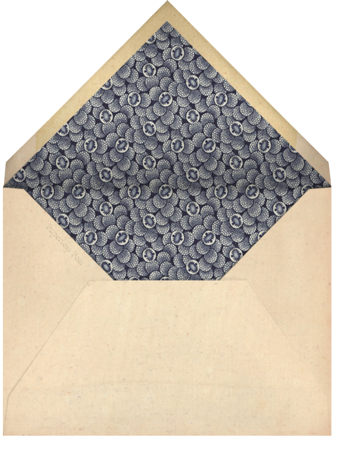 Faience Chinois - John Derian - Barbecue - envelope back