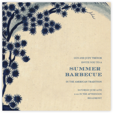 Faience Chinois - John Derian - Summer Party Invitations