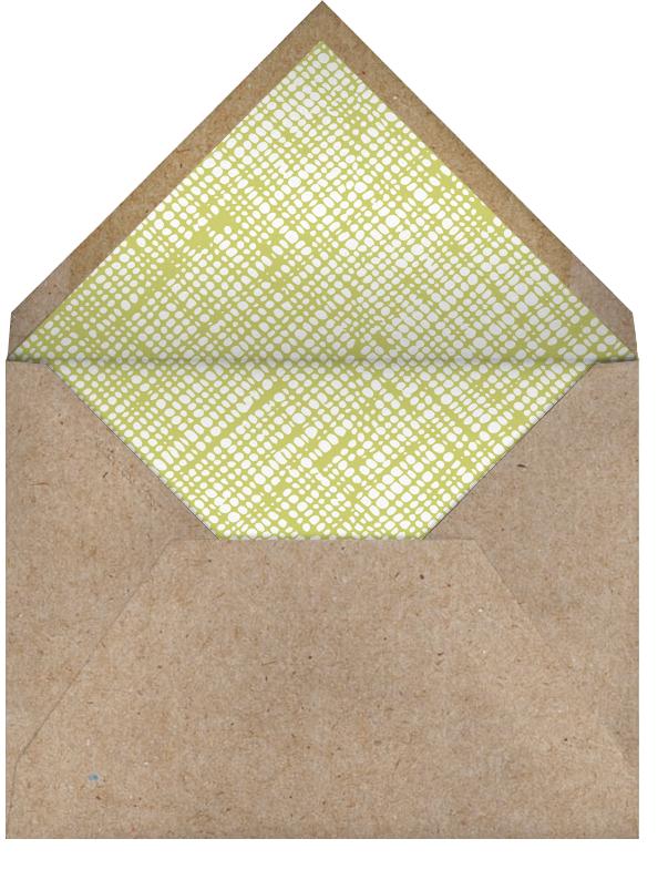 Modern Fox - Petit Collage - 1st birthday - envelope back