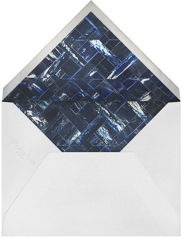 Marble - Indigo - Oscar de la Renta - Adult birthday - envelope back
