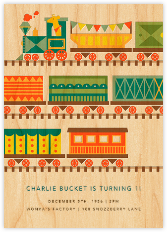 By Rail - Petit Collage - Online Kids' Birthday Invitations
