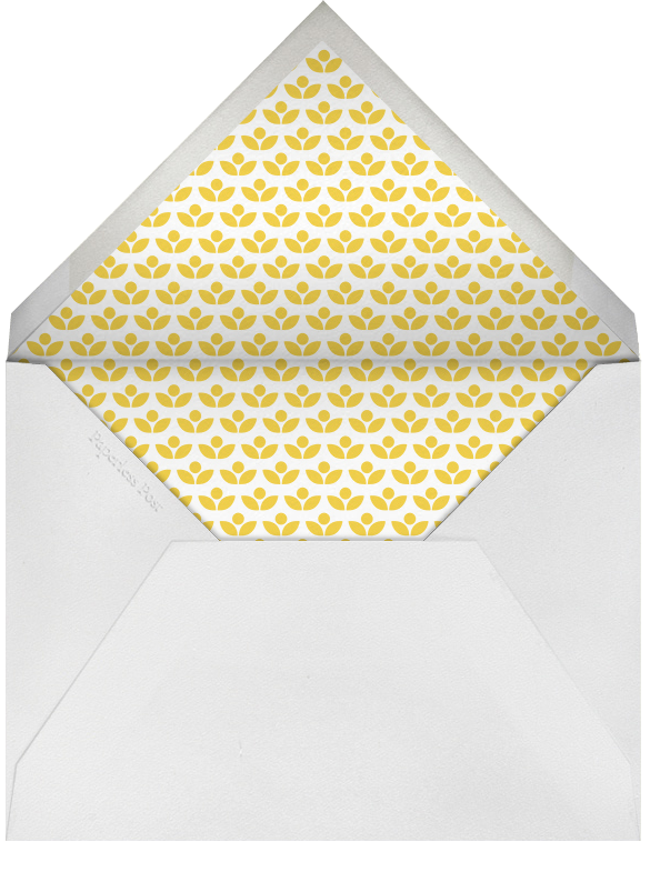 Pink Mod Flowers - Petit Collage - Baby shower - envelope back
