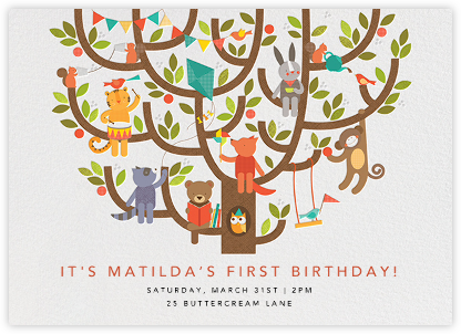 Tree Party - Petit Collage - Birthday invitations
