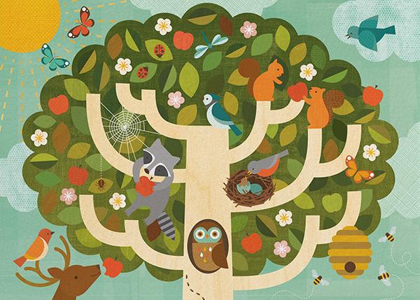 Treetop - Petit Collage -
