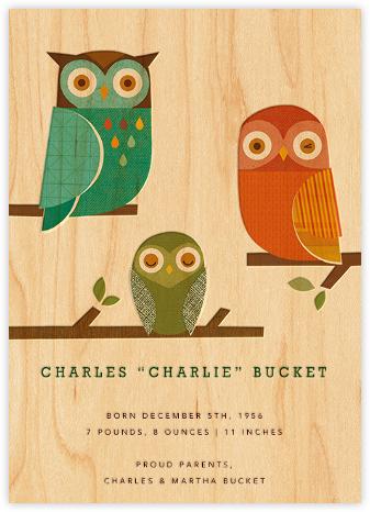 Owl Trio - Petit Collage -