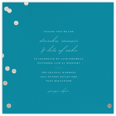 Holepunch - Teal - Paperless Post - Adult Birthday Invitations