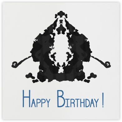 Rorschach Birthday Silhouette (Blue) - Paperless Post - Birthday Cards