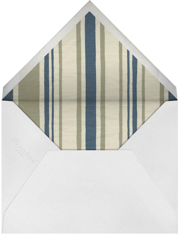 Arcadia - Indigo Ivory - Oscar de la Renta - Anniversary party - envelope back