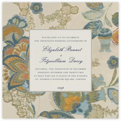 Arcadia - Indigo Ivory - Oscar de la Renta - Anniversary party invitations