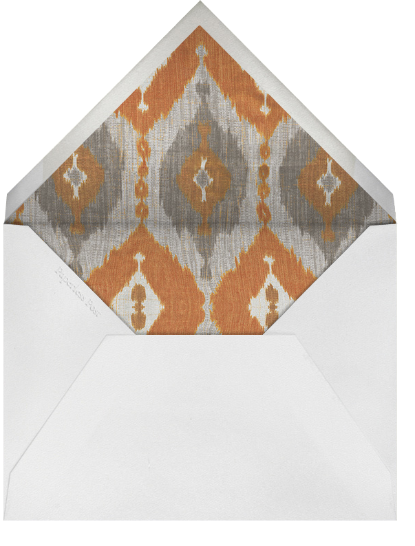 Montespan Satin - Orange - Oscar de la Renta - Autumn entertaining - envelope back