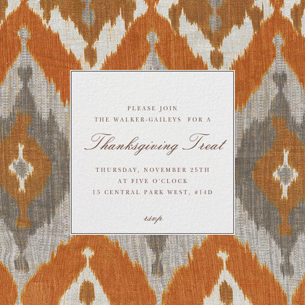 Montespan Satin - Orange - Oscar de la Renta - Thanksgiving invitations