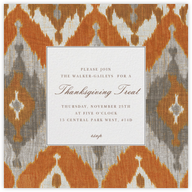 Montespan Satin - Orange - Oscar de la Renta - Thanksgiving invitations