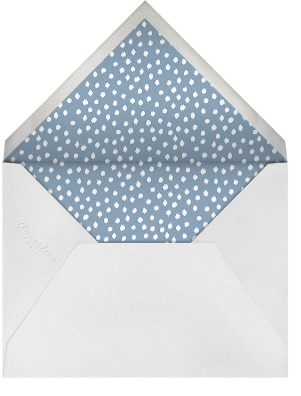 Camille - Aqua - Oscar de la Renta - Bridal shower - envelope back